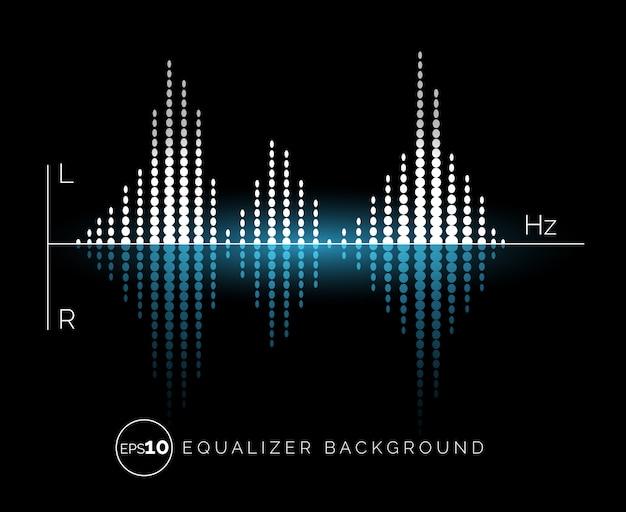 Elemento de design de som digital do equalizador