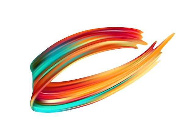 Elemento de design de tinta acrílica ou óleo de pincelada colorida.