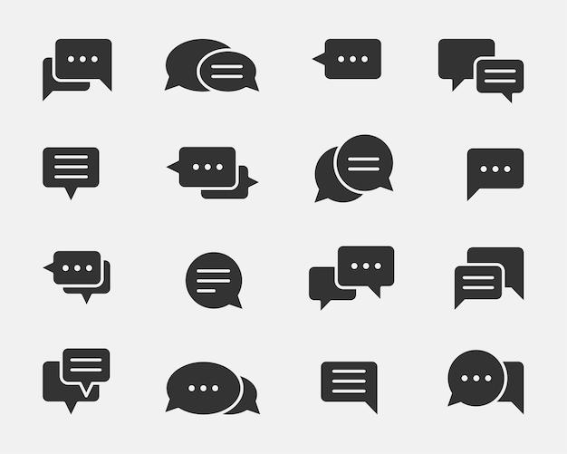 Elemento de design do ícone de bate-papo