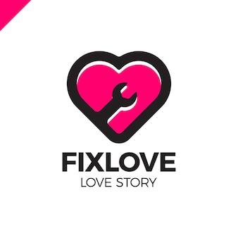 Elemento de design do logotipo do amor de reparo