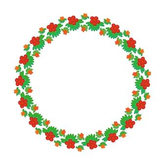 Elemento de design floral redondo