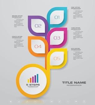 Elemento de design gráfico abstrato infográfico