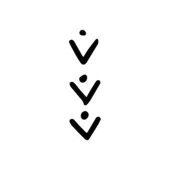 Elemento de design nórdico abstrato em estilo escandinavo moderno em vetor