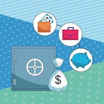 Elemento de dinheiro economizando negócios