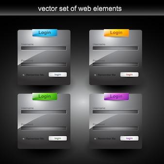 Elemento de estilo de login da web