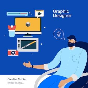 Elemento de ferramentas de designer gráfico