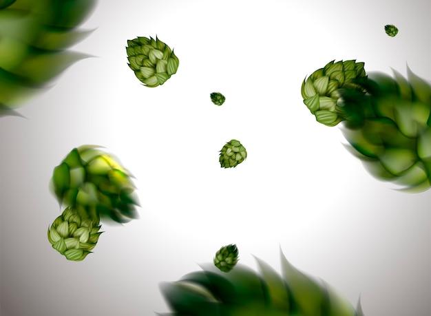 Elemento de flor de lúpulo voador