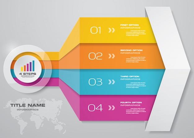 Elemento de gráfico de seta de infográficos.