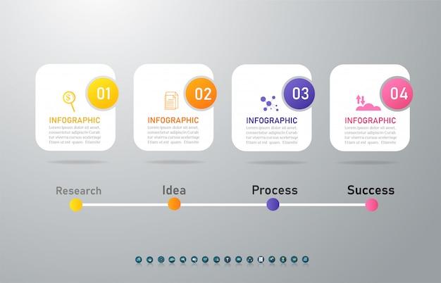 Elemento de gráfico infográfico modelo comercial.