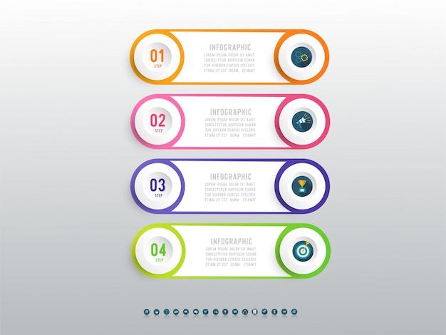 Elemento de gráfico infográfico opção quatro negócios de design.