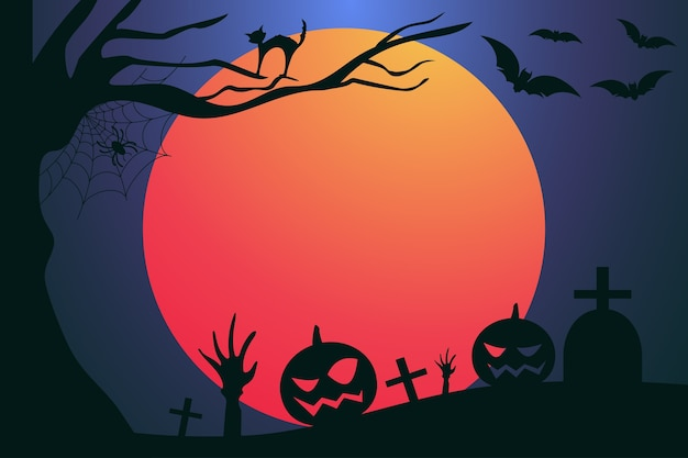 Elemento de halloween e decoração
