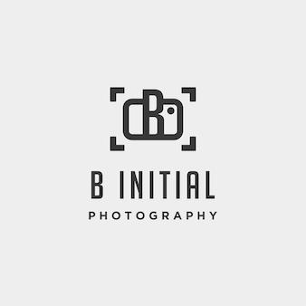 Elemento de ícone de desenho vetorial modelo de logotipo de fotografia inicial b