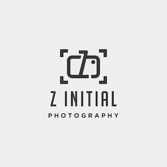 Elemento de ícone de design de vetor de modelo de logotipo de fotografia inicial z