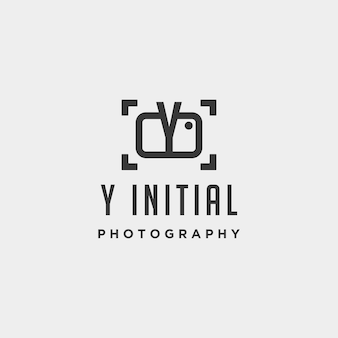Elemento de ícone de design de vetor de modelo de logotipo de fotografia inicial
