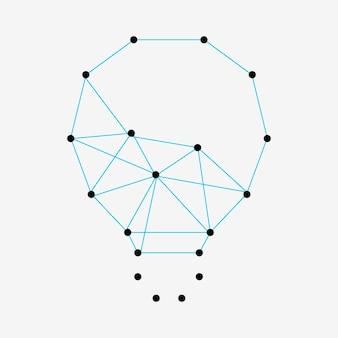 Elemento de ideia de lâmpada, design de vetor de inovação de tecnologia criativa