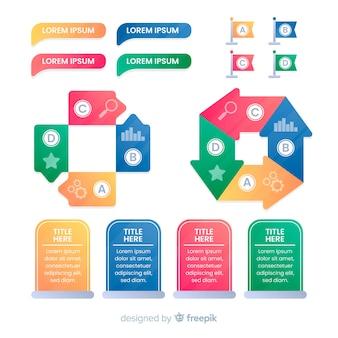 Elemento de infografia collectio