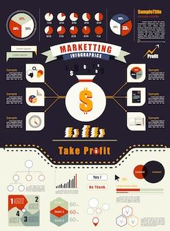 Elemento de infografia moderna. conceito de marketing