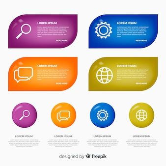 Elemento de infográfico collectio