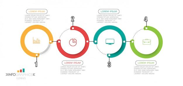 Elemento de infográfico com opções ou etapas