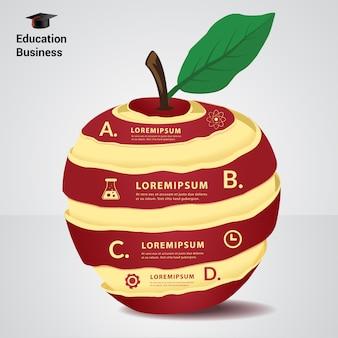 Elemento de infográfico de conceito de educação.