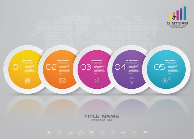 Elemento de infográfico de cronograma.