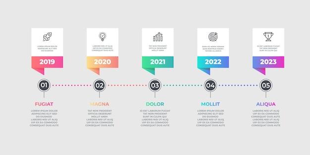 Elemento de infográfico de etapas