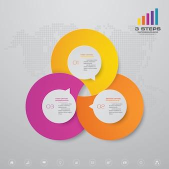 Elemento de infográfico de gráfico de apresentação.