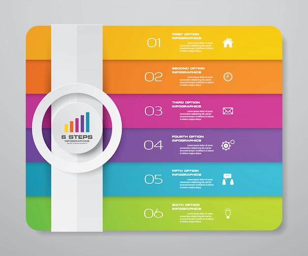 Elemento de infográfico de gráfico de apresentação