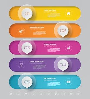 Elemento de infográfico de gráfico de linha do tempo