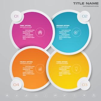 Elemento de infográfico de gráfico