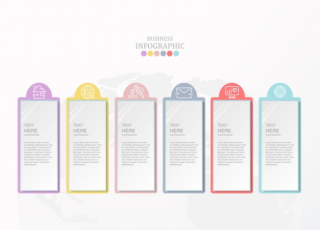 Elemento de infográfico e ícones para o conceito de negócio.