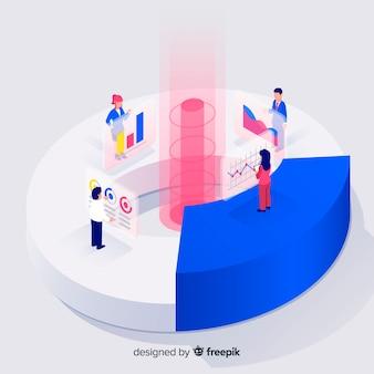 Elemento de infográfico em estilo isométrico