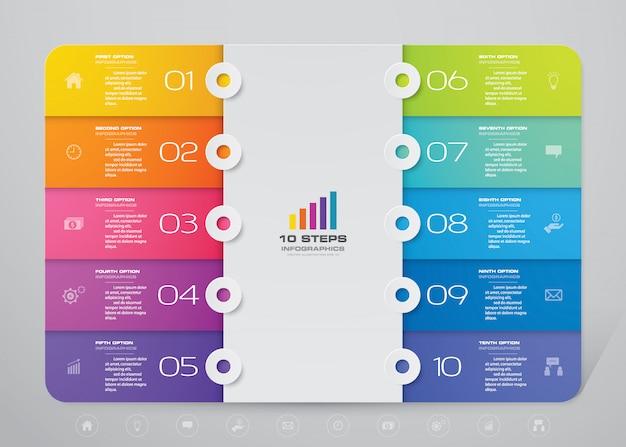 Elemento de infográfico gráfico moderno