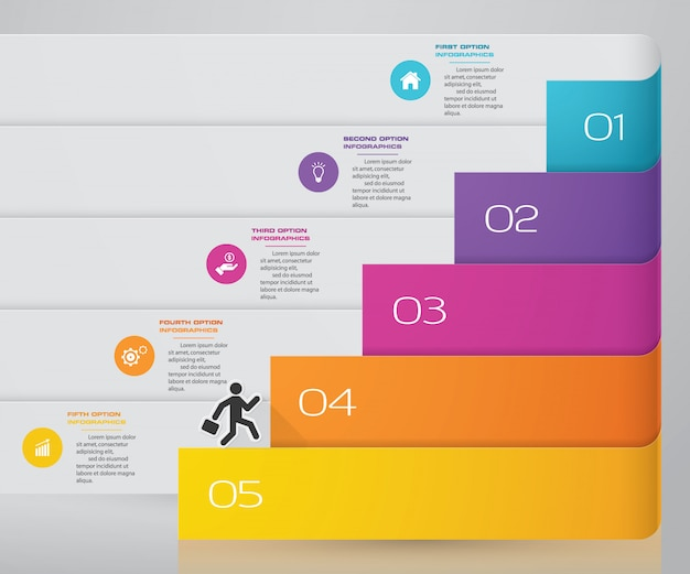 Elemento de infográfico gráfico