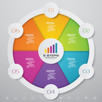 Elemento de infográficos de gráfico de círculo