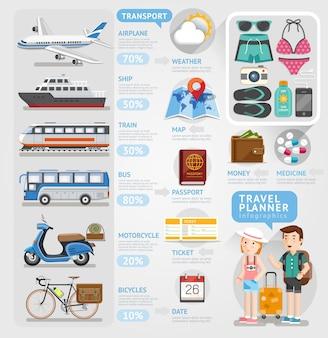 Elemento de infográficos de viagens.