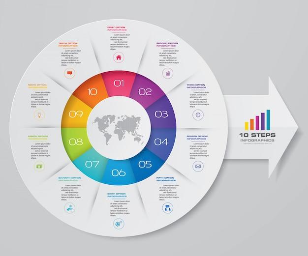 Elemento de infográficos do círculo gráfico