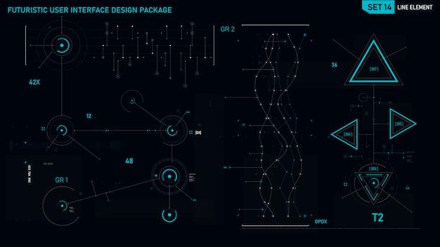 Elemento de interface de usuário futurista