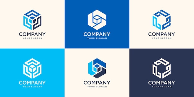 Elemento de logotipo de design moderno com modelo de cartão. melhor para identidade e logotipos