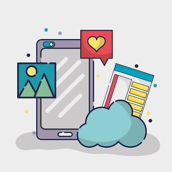 Elemento de mídia social para rede de conexão