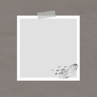 Elemento de moldura de foto de vetor nota de adesivo no estilo memphis Vetor grátis