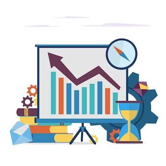 Elemento de negócios para apresentações, publicidade, web.