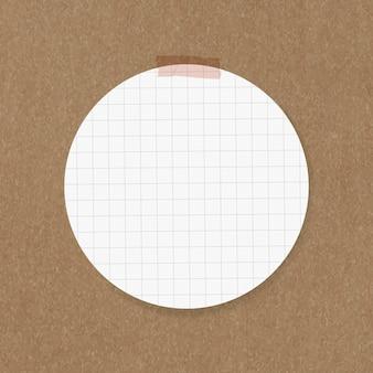 Elemento de nota de círculo de vetor de adesivos de goodnotes
