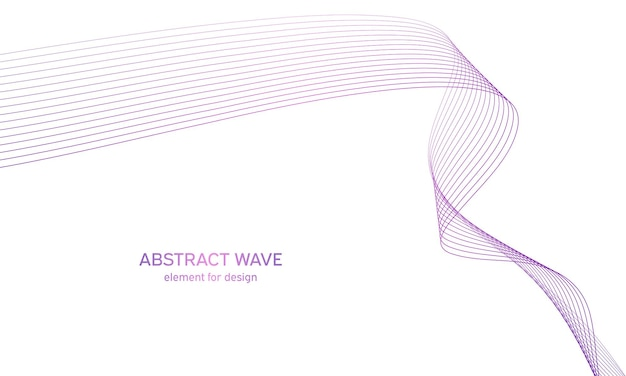 Elemento de onda abstrata de colorfull para design
