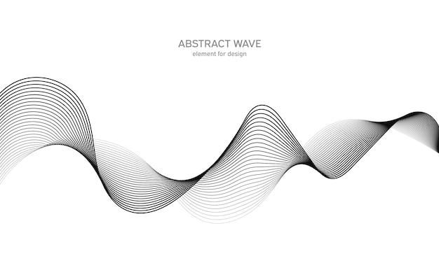 Elemento de onda abstrata para o projeto. equalizador de faixa de frequência digital.