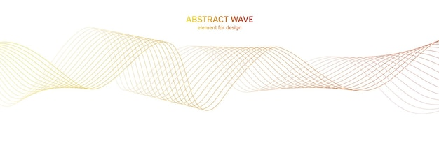Elemento de onda colorfull para design