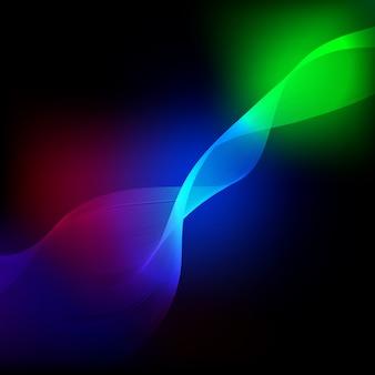 Elemento de onda colorida abstrata para o projeto.