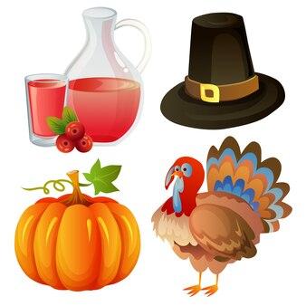 Elemento de outono de ação de graças