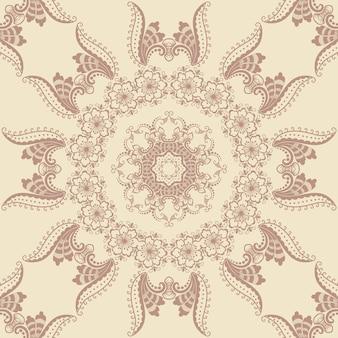 Elemento de padrão floral sem costura em estilo árabe