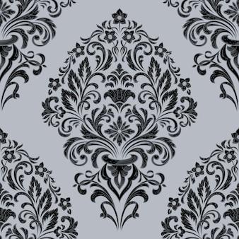 Elemento de padrão sem emenda de damasco